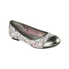 Women's Skechers Juliet Cupid Ballet Flat - Pewter Casual ($33) ❤ liked on Polyvore featuring shoes, flats, ballet flats, casual, silver, flat shoes, metallic ballet flats, flexible ballet flats and metallic flats