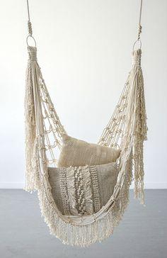 Handmade Macrame Hammock Chair | BonfireHeartCo on Etsy #HammockChair