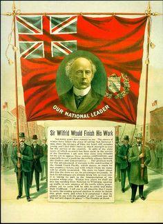 Affiche électorale de Wilfrid Laurier 1904