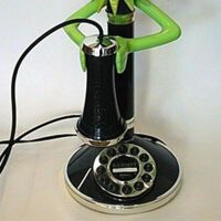 In 1996 TeleDynamics released a Kermit the Frog candlestick telephone as a part of the Kermit... Shark Fin, Kermit The Frog, Telephone, Candlesticks, Old Things, Candle Holders, Candle Sticks, Phone, Candlestick Holders