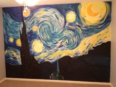 Captivating Starry Night Wall Mural Part 10