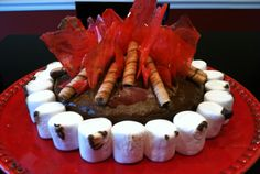 Campfire cake made for cub scouts