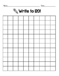 120 Number Chart Grids~Count and Write~math centers ...