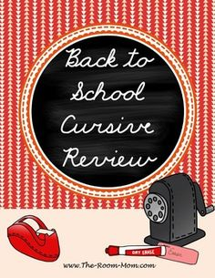 Back to School cursive review, help students refresh their handwriting skills after summer break