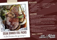 Steak dinner foil pack #paleo recipe