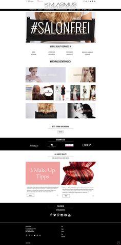 Webdesign for KIM ASMUS in Leverkusen - kimasmus.de Web Design, Make Up, Beauty, Web Design Projects, Maquillaje, Beleza, Maquiagem, Makeup, Website Designs