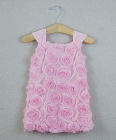 Look what I found on #zulily! Pink Rosette Shift Dress - Infant, Toddler & Girls by Sweet Charlotte #zulilyfinds