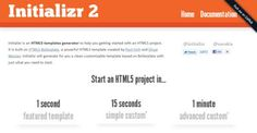 HTML5 Template Generators, Frameworks And Tools