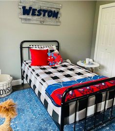 """""""I'm so in love with this new bedding I came across on IG. It's called Beddy's and it's a complete bed that you can zipper up. I love how neat and fitted it looks when the bed is made and how easy it is to make the bed…Definitely getting one for our bedroom too! BTW Weston slept in so late because of how cozy and tucked in he was. #winning"""" @stephfrrr #zipperbedding #zipyourbed #beddys #homedecor #boysroom #boysroomdecor #kidsinterior #kidsbedroom #kidsbedding Boys Room Decor, Kids Bedroom, Bedroom Decor, Bedroom Ideas, Beddys Bedding, Zipper Bedding, Shared Bedrooms, New Beds, Make Your Bed"""