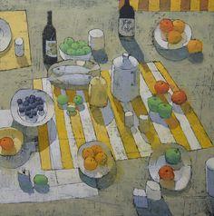 Paul Balmer Table by the Sea 48x48 oil on canvas