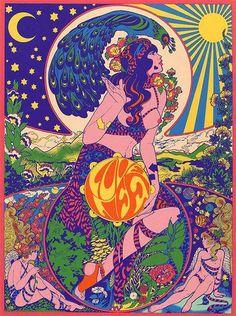 beauty art girls girl trippy beautiful hippie sky drugs women moon psychedelic stars purple sun nature peace woman plants Psychedelic art plant Peacock sun and moon trippy art Art And Illustration, Mermaid Illustration, Art Inspo, Kunst Inspo, Poster Design, Art Design, Art Pop, Psychedelic Art, Kunst Poster