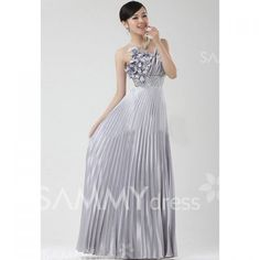 $52.26 Elegant Spaghetti Strap Beading and Appliques Embellished Zipper Up Evening Dress For Women