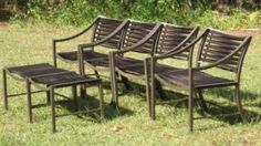 Chairs At Ashley Furniture Plastic Patio Chairs, Lawn Chairs, Outdoor Chairs, Outdoor Furniture, Outdoor Decor, Outdoor Ideas, Refurbished Furniture, Furniture Makeover, Saarinen Chair