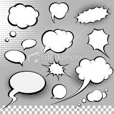 1000 images about comic art on pinterest comic bubble for Comic strip bubble template
