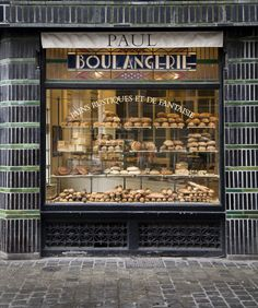 Paul Boulangerie et Pâtisserie | Lille, France. INspiration and ideas for window displays for Cafes, Bakeries and Delis.