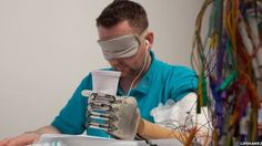 Scientists have created a bionic hand which allows the amputee to feel lifelike sensations from their fingers.