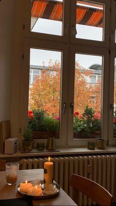 Autumn Illustration, Cafe Tables, Street House, Autumn Cozy, Autumn Aesthetic, Window View, Vintage Interiors, Best Seasons, Dream Apartment