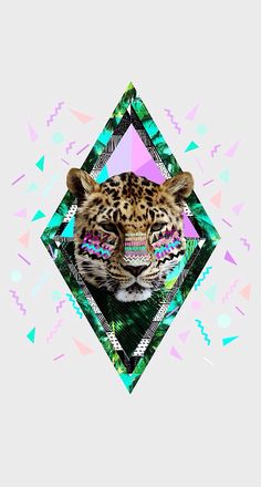 Graphics + tribal patterns + neon tiger