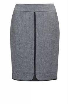 м-293/ серая Модель силуэта карандаш с модным эффектом двойной юбки | Юбки