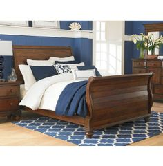Pine Island King Sleigh Bed Master Bedroom, Bed, Furniture, King Sleigh Bed, King Size Bed, House, Home Decor, Room, Bedroom Art