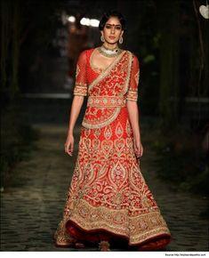 Red Lehenga in Tarun Tahiliani Bridal Collection  #TarunTahilianiBridalCollection