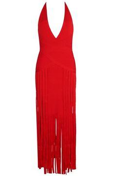 Dream it Wear it - Halter Fringe Evening Bandage Dress Red, $151.39 (http://www.dreamitwearit.com/halter-fringe-evening-bandage-dress-red/)