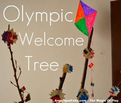 Children celebrating the Olympics - BLOGHOP | AngeliqueFelix.com