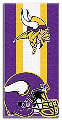 8c42cb105 Amazon.com   The Northwest Company Officially Licensed NFL Minnesota Vikings  Zone Read Beach Towel