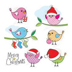 BOGO FREE Merry Christmas Birds cross stitch pattern PDF