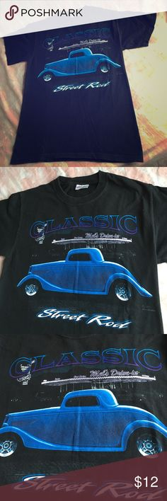 Street Rod Classic🌅Mels Diner San Francisco 🚋 Fabulous Street Rod Classic . Great front logo to this California beauty . Mels Diner / San Francisco . Small & ready to wear 🌉 Black / Beefy Tee 😍 Vintage Tops Tees - Short Sleeve