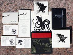 game of thrones wedding invitation