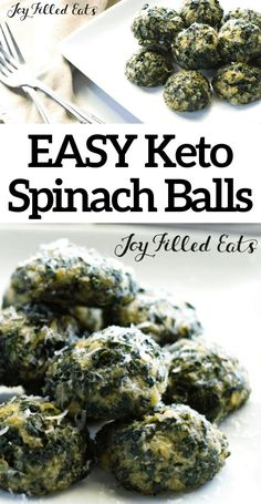 No holiday is complete without these Keto Parmesan Spinach Balls! Savory, cheesy and quick & easy to prepare, this will be your new favorite low carb snack! Keto Foods, Ketogenic Recipes, Keto Snacks, Low Carb Recipes, Healthy Snacks, Cooking Recipes, Cooking Tips, Soup Recipes, Super Simple