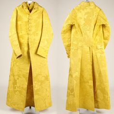 Banyan, ca. 1780, British, silk. Front and back views. The Met.  http://www.metmuseum.org/collections/search-the-collections/87231?img=3