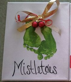 Mistletoes (and other foot and hand print ideas)!! :)