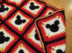 ****Pattern Only****  This Mickey Mouse Blanket pattern is my own design. Mickey Mouse is crocheted into the square, it is on both sides of the blanket, not sewn on top. Any child would love to have a Mickey Mouse blanket like this!! Pattern also includes the instructions to make the bow for a Minnie Mouse square.  Pictured is a baby blanket that measures 43 inches wide by 37 1/2 inches high and is made with Red Heart Yarn. You can make any size blanket you like. Pattern is for an…
