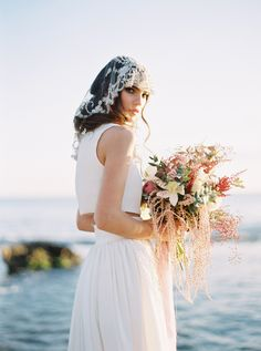 Ethereal and Unique Beach Bridal Looks Headpiece Wedding, Bridal Headpieces, Wedding Gowns, Bridal Sash, Bridal Shoot, Bridal Looks, Bridal Style, Beach Wedding Inspiration, Wedding Ideas