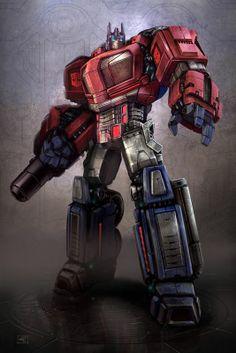 Optimus Prime concept for Transformers - War for Cybertron Transformers Film, Transformers Generation 1, Transformers Cybertron, Batman Christian Bale, Gi Joe, Godzilla, Gundam, Nemesis Prime, Science Fiction