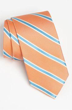 Peach Tie for Groomsmen. Peter Millar Woven Silk Tie