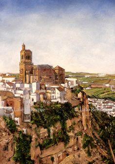 """Lalo Relinque: Apuntes - """"Colección Caprichos de España""""-  """"Arcos de la Frontera"""" (Cádiz).01"""