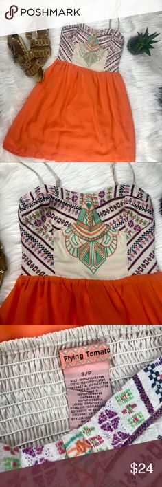 Flying Tomato Subdress- Tribal Pattern Aztec print top, Flying Tomato sundress Size small- may run a little small.  Please ask for measurements if you need them!  ❤️☀️ Flying Tomato Dresses Mini