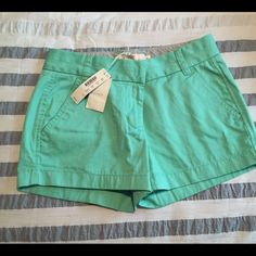 J. Crew Shorts Light green J. Crew size 0 shorts. New with tags. Wrinkled from time in closet. Never worn. J. Crew Shorts