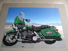 Quilled Motorcycle - by: Paula Hogue