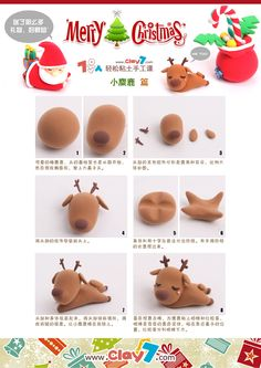 DIY Polymer Clay Reindeer Tutorial