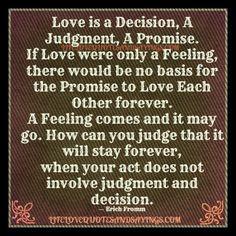 A decision, a judgement, a promise