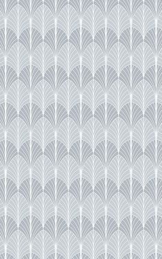 Style a unique space that's inspired by the sophisticated style of Art Deco with this grey Art Deco Palm Wallpaper. Palm Leaf Wallpaper, Art Deco Wallpaper, Luxury Wallpaper, Pattern Wallpaper, Art Gris, Estilo Art Deco, Style Patterns, Grey Art, Art Deco Design