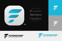 3D F Fuyeng Tech Logo by AlfianBrand™ on Creative Market