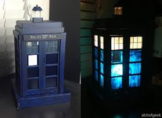 DIY Tardis Lamp: It's Brighter On The Inside - I'm so doing this!