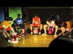 Funky Buckets (Drum Line) for 2010-2011 Talent Show.... Nice... GUYS... :) Middle years doing their thing and well at that! :)