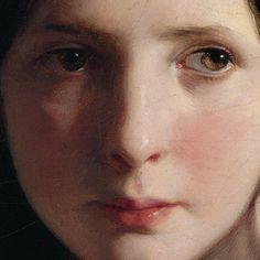 Particolari numero 4. Friederich von Amerling: Persa nei sogni. Olio su tela del 1835. 55 X 45 cm. Leichtenstein Museum, Vienna. Un volto bellissimo, dolce, con lo sguardo perso nel suo sogno: un titolo perfetto.
