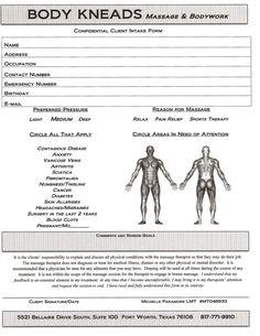 Body Kneads Massage & Bodywork. Fill out Client Consultation Form in advance!www.fwbodykneads.com